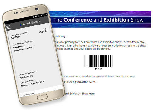 Print and Scan, WebScanning, WebBadging, EventReference, Badges, Scanners, Attendance Reporting, reports, attendance, conference, scanning app, app, android app, attended, event, conference